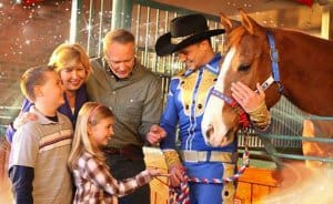 "Two ""stars"" of Dolly Parton's Stampede Dinner Attraction!"
